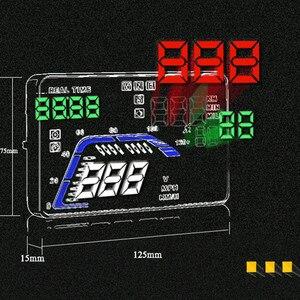 """Image 4 - Universal novo q7 5.5 """"multi cor carro automático hud gps cabeça up display velocímetros excesso de velocidade aviso dashboard brisa projetor"""