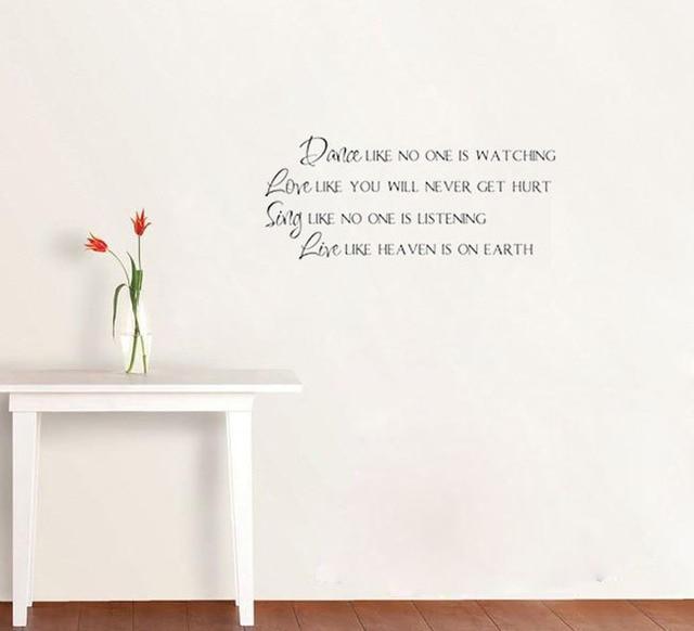 Wallpaper Stiker Stiker Quotes Cinta Seperti Anda Tidak Akan Terluka