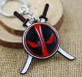 2016 1 PCS nova chegada Anime Catoon x-men Deadpool Metal Keychain pingente da corrente chave Chaveiro chave anel de aço inoxidável