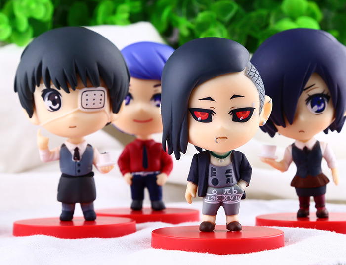 4pcs/set Hot Anime Nendoroid Tokyo Ghoul PVC Action Figure Collectible model Toys 8cm - Godzone store