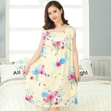 Summer Sexy Cotton Sleepwear Nightgown Women Night Shirt Dress Female Lounge Home Clothes Cotton Nighty Gown Sleep Top