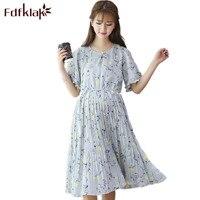 Fdfklak Pregnancy Fashion Women Dresses Maternity Short Sleeve Print Dress For Pregnant Women Summer Maternity Woman Dress F81