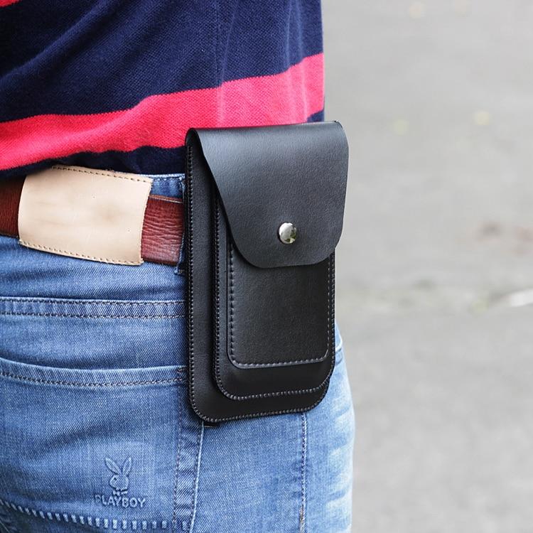 Мужская одежда кожаный ремень карманы Универсальный Двойной Кожаный Чехол кенгуру ретро для iphone 6 7 8 plus X XS MAX XS XR двухслойный чехол