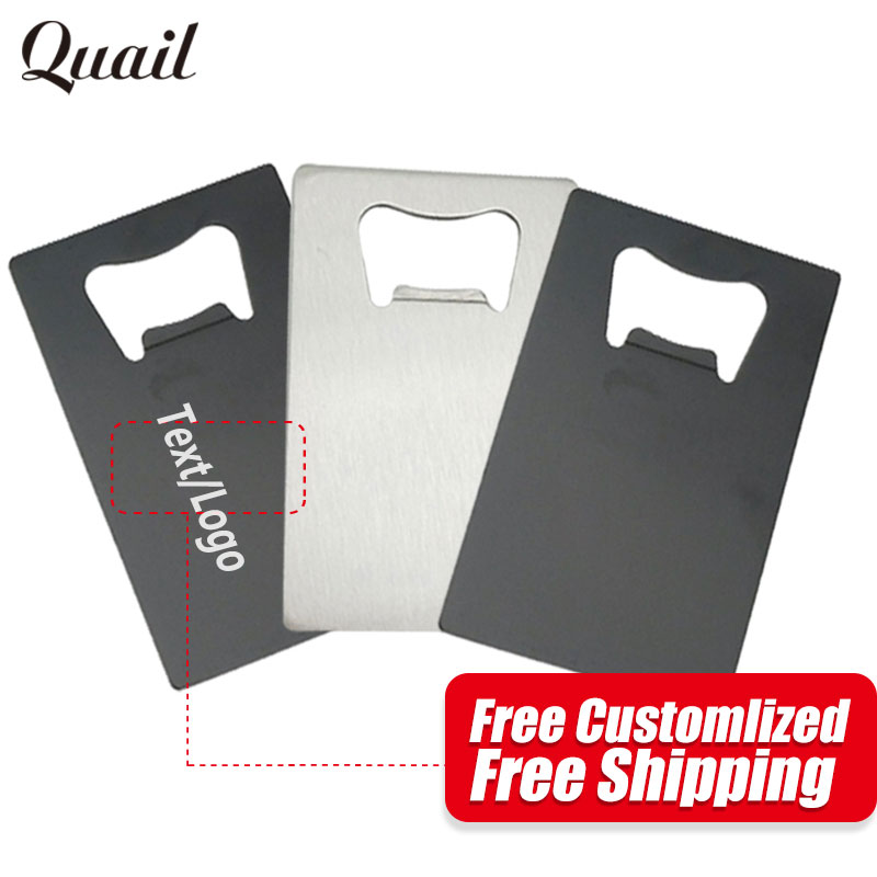 Quail Free Customized Logo/Text Creative Metal Credit Card Bottle Opener Fashion Design Beer Opener As Gifts For Special People