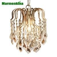 Marmenkina European Style Luxury Crystal Chandelier Bedroom Villa Living Room Dining Hallway Pendant Light E27 AC110