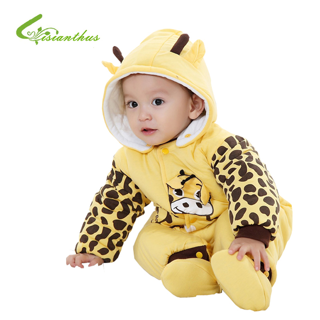 Cotton-padded Baby's Romper Ladybug and Cows Boy/ Girl Jumpsuit Autumn Winter Infant Cartoon Animal Body Suit Free Shipping Gift