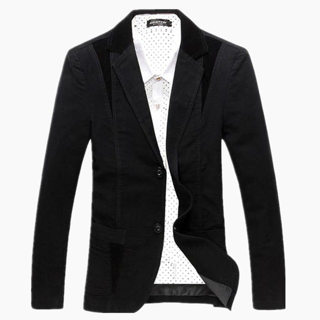 Spring-Autumn 2014 Men's Casual Suit Blazer Slim Fit Men's Suit Jacket Casual Business Plus Size 4XL Men Cotton Coat Outerwear