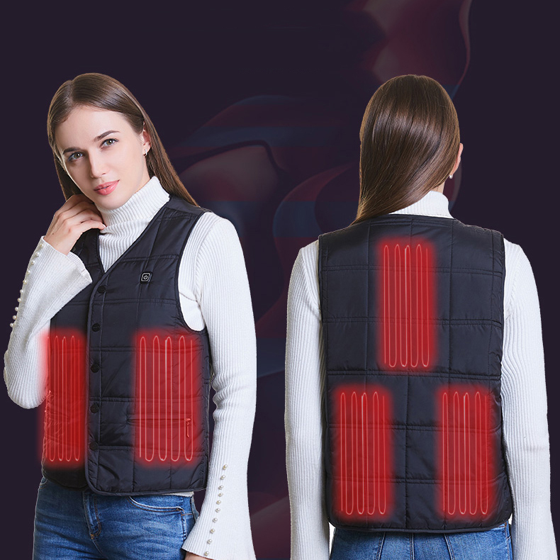 USB Charging Electric Heated Vest for Men Women Washable Winter Vest Safety Temperature Control Working Vest