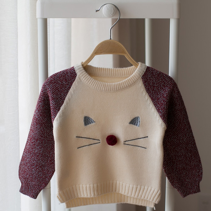 Baby Sweaters Autumn Infant Girls Boys Pullovers Cartoon Knitting Coat Male Female Baby Long-sleeve Soft Sweater Suit 0-5 Years