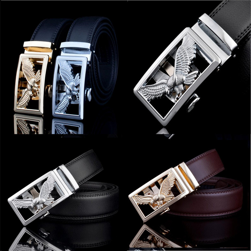 Luxury Gold Eagle Metal Automatic Buckle Waist Belt Designer Belts Men's High Quality Genuine  Designer Belts Men High Quality
