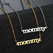 Eleple Lovely Mommy Stainless Steel Necklaces Mothers Day Birthday Celebration Gifts Fashion Jewelry Manufacturer S-N652