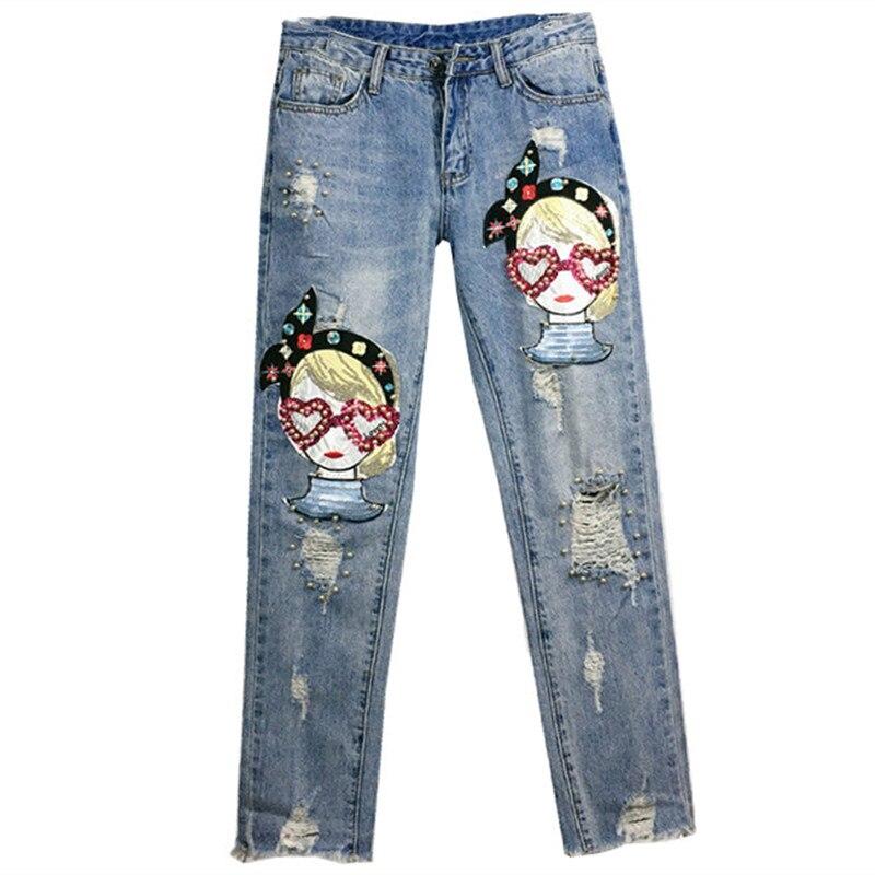 e6a856120a Jeans Mediados Cintura De Skinny Falda Agujero 0905 Chica Venta Rasgado  Caliente Pantalón Pantalones Moda Vaqueros Animados Dibujos Mujer 4F0wqz