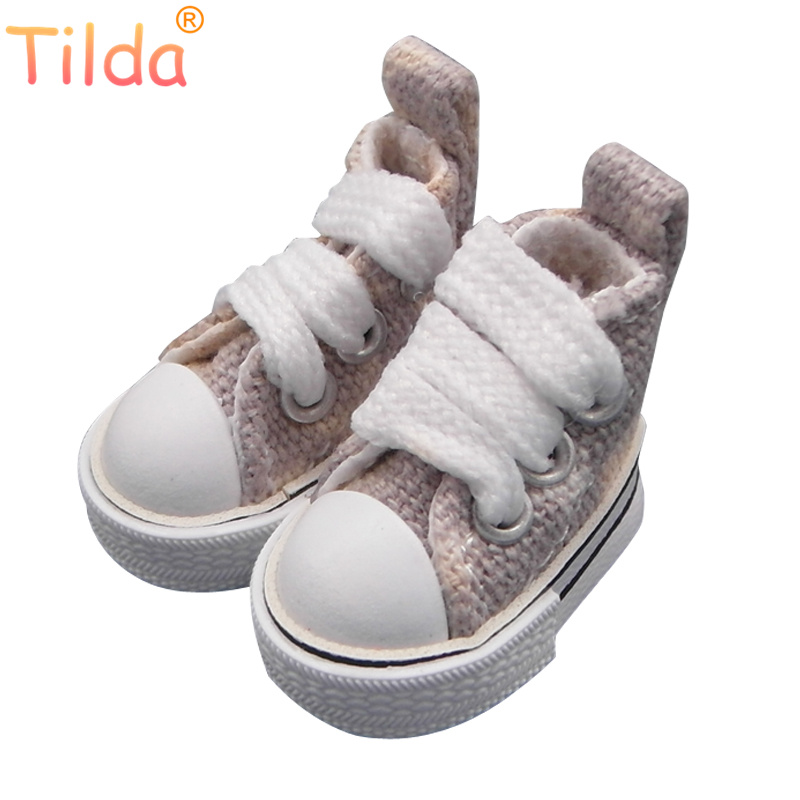 Tilda 3.5cm Canvas Doll Shoes For Blythe Doll,Mini Toy Doll 1/6, Star Sneakers Casual Shoes for BJD Accessories for Dolls Toy canvas shoes for paola reina doll fashion mini toy gym shoes for tilda 1 3 bjd doll footwear sports shoes for dolls accessories