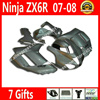 7 Gift Fairings For Motorcycle Kawasaki ZX6R 2007 2008 Ninja 636 Fairing Kits 07 08 Popular