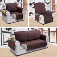 Capa de sofá reclinável cão de estimação crianças protetor de esteira do sofá capa resistência à água acolchoado capas de sofá reversível para sala estar