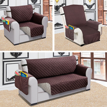 Recliner Sofa Couch Cover Pet Dog Kids Mat Protector Sofa Cover Water Resistance Quilted Reversible Sofa Covers For Living Room