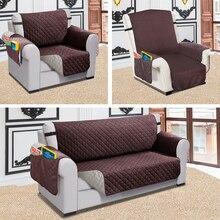 Rozkładana Sofa narzuta na sofę Pet Dog Kids Mat Protector narzuta na sofę odporność na wodę pikowana dwustronna narzuta na sofę s do salonu