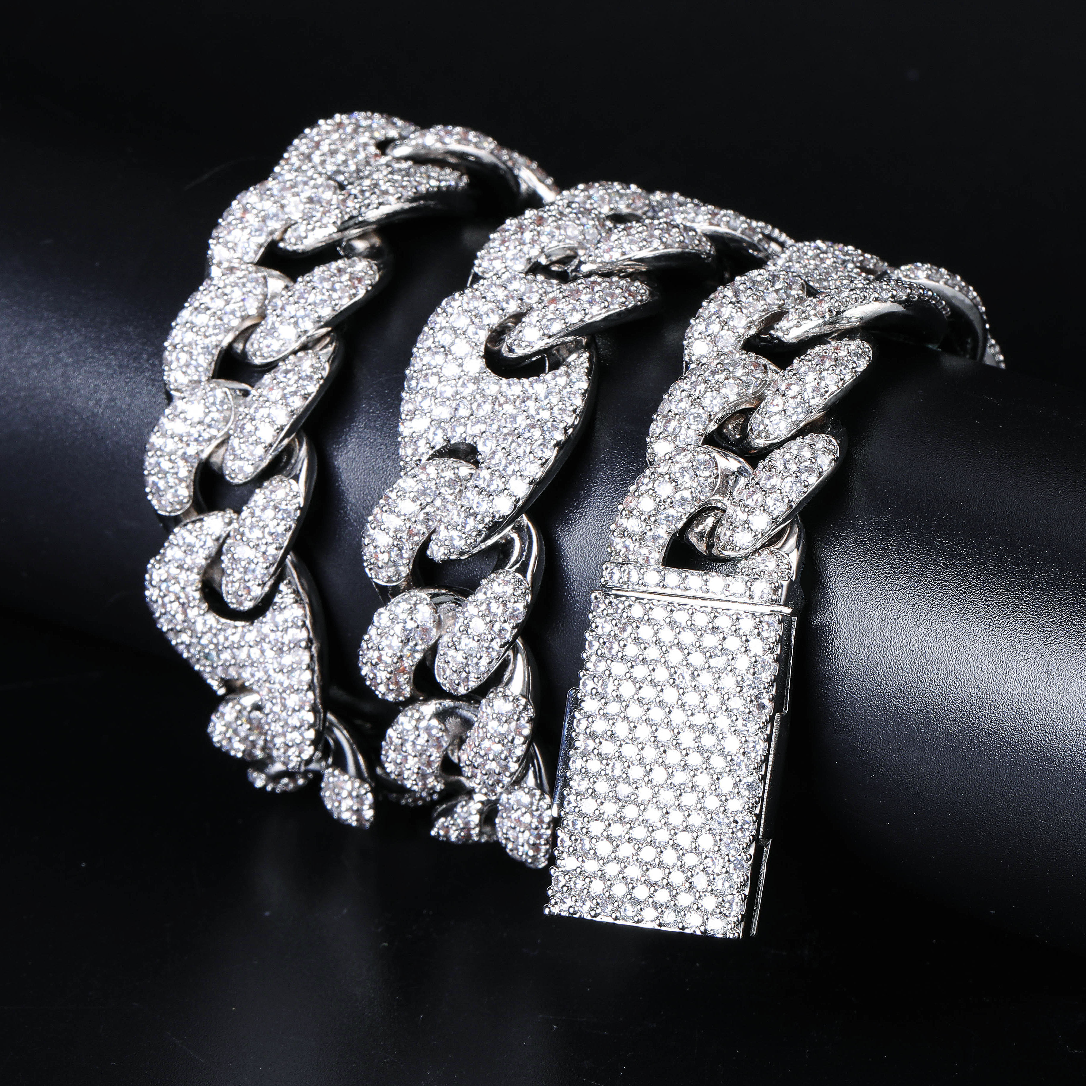 Image 5 - TOPGRILLZ 20mm Miami Lock Clasp Cuban Necklace Iced Out AAA Cubic Zircon Cuban Link Chain Hip Hop Jewelry For Man Necklaces-in Chain Necklaces from Jewelry & Accessories
