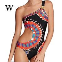 2018 Lato Sexy Kobiety Drukarnie Backless Swimsuit Body Kostiumy Kąpielowe Drut Bezpłatne Kombinezon Romper Niesamowite Grudnia 22