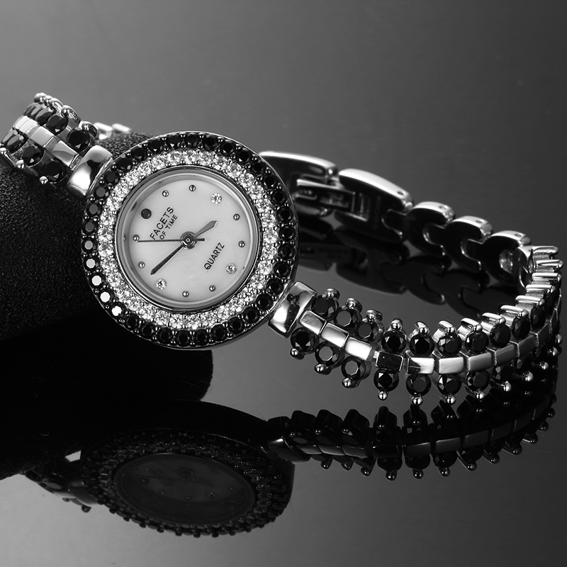 925 Sterling Silver Black Spinel Watches Women's Fine ...