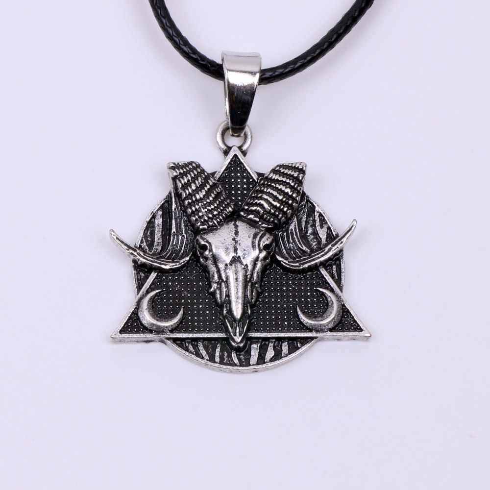 Baphomet Amulet Sabbatic Goat Necklace Pendant Protection
