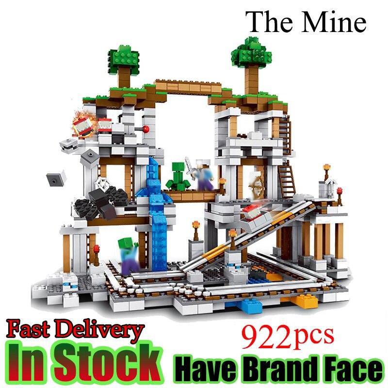 Minecraft 922 Stucke Der Mine My world Figur Kinder legoed Education Building Blocks Bricks Spielzeug Fur Kinder Geschenk