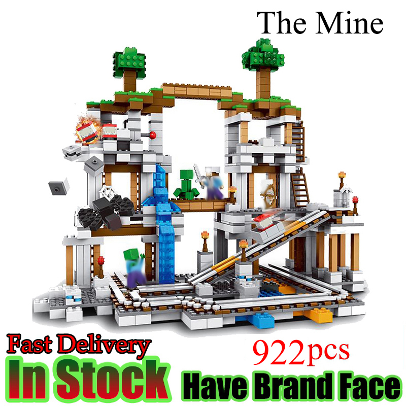 Minecraft 922 Stucke Der Kinder Miniera My world Figur legoed Education Building Blocks Mattoni Pelliccia Kinder Spielzeug Geschenk