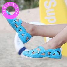 TESILIXIEZI Summer Sandals Hollow Out Mesh Outdoor Breathable Casual Shoes Lightweight Quick-drying Candy Colors Beach Shoes summer unisex water shoes beach sandals man women breathable quick drying lightweight anti slippery outdoor sandals casual shoes