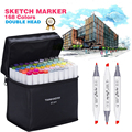 Art Marker 168 Colors Copic Marker Alcoholic Based Mark pen Dual Head Sketch Brush Pen Copic marker set art supplies stationery