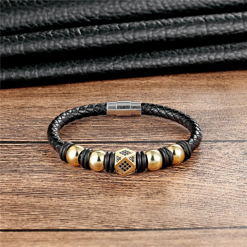 2018 европейский модный кожаный браслет мужской повседневный