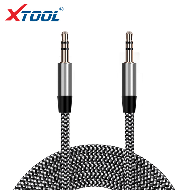 1m Nylon Aux Cable 3.5 Car Audio Cable 3.5mm Speaker Line Aux Cable Male to Male Jack Auto Car Cable for Phone/Car and Radio