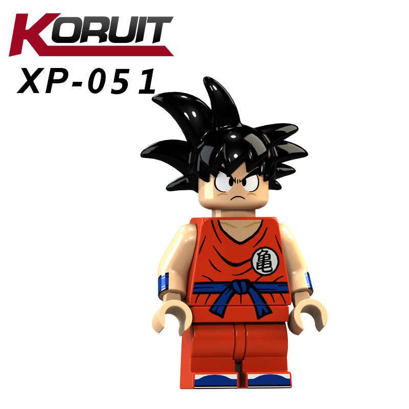 For Dragon Ball Z Figures Violett Krillin Tien Shinhan Goku Chiaotzu Vegeta Collection Model Building Blocks Bricks toys