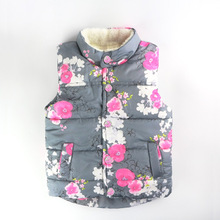 kids warm vest  baby girl fur clothes girls