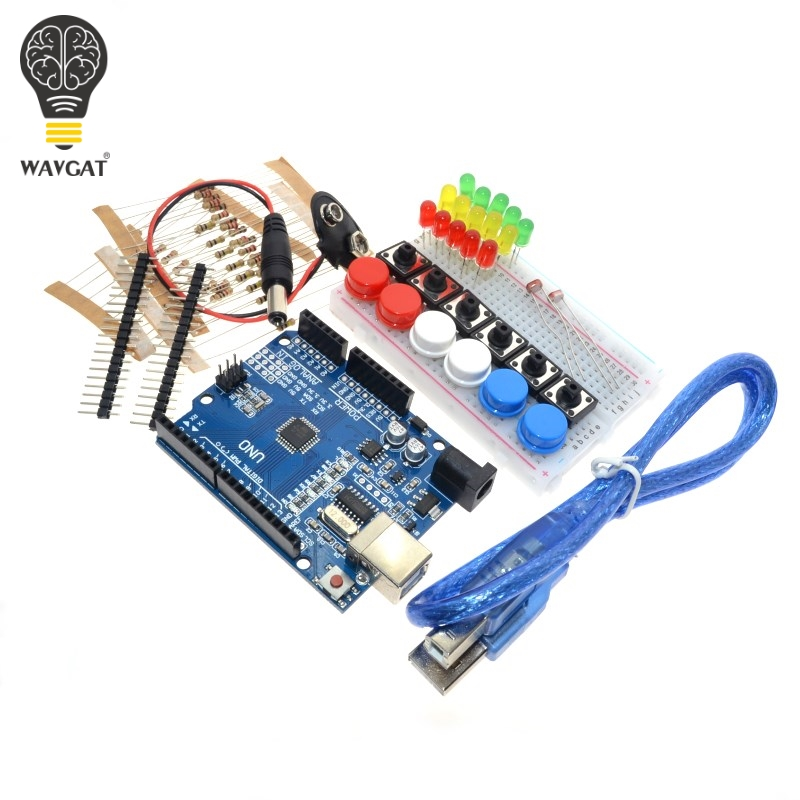 Smart Electronics Starter Kit For Arduino Uno R3 Mini Breadboard Led Jumper Wire Button Active Components Electronic Components & Supplies