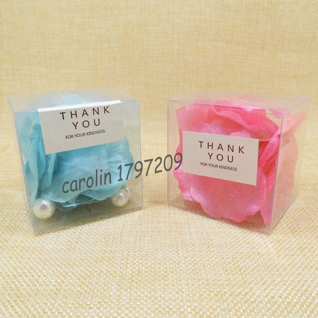 Baby Shower Thank You Gift Boxes : Pcs clear pvc bis size candy boxes wedding favor box