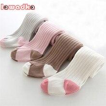 Lawadka/теплые мягкие хлопковые колготки для маленьких девочек; однотонные гетры для малышей; колготки для малышей