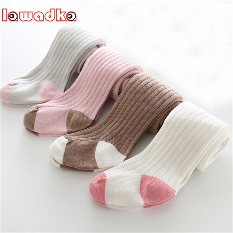 Lawadka  Newborn Warm Soft Cotton Baby Girl Tights Infant Solid Leg Warmers Pantyhose Baby Stockings