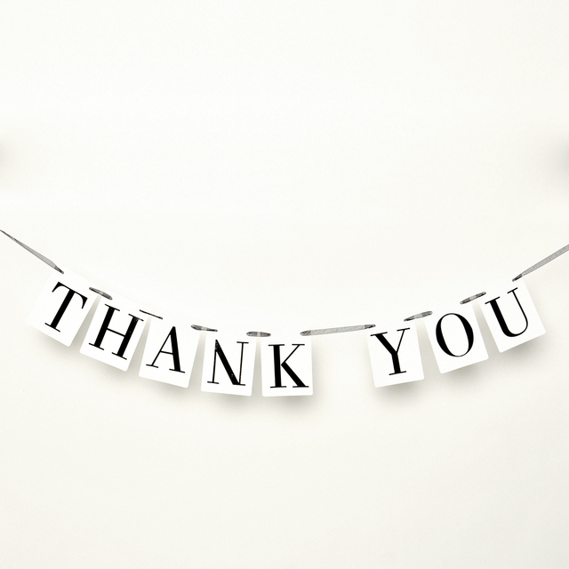 Thank You Letter Wedding Card Banner Bunting Wedding Sign Married