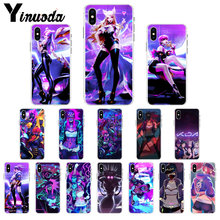 Yinuoda lol League Of Legends kda kaisa Ahri akali Evelynn Zachte Telefoon Case voor Apple iPhone 8 7 6 6S Plus X XS MAX 5 5S SE XR(China)