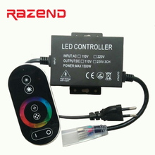 220V 110V RGB controller Full touch led dimmer 1500W EU plug / US plug 8MM PCB/10MM/12mm PCB connector Free shipping
