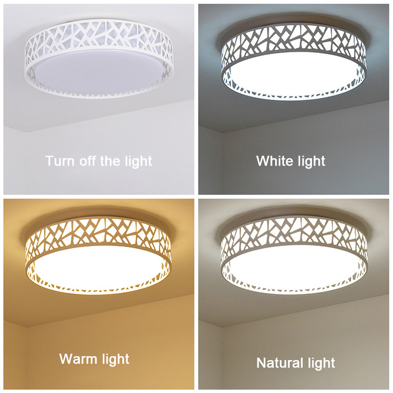 27CM 24W Acryle Round Circular Celling light AC90 260V 3 Color Switchable Warm White White Cold White Lampara For Living Room in Ceiling Lights from Lights Lighting