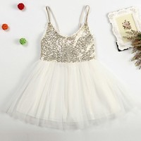 NEAT Retail 2017 Summer Baby Girl Clothes Lace Gold Piece Girl Dress Cute Children S Clothing
