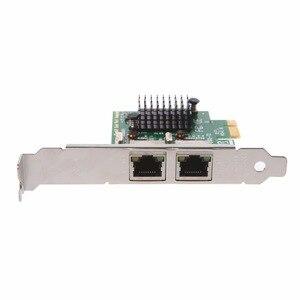 Image 5 - Dual Port PCI Express PCI E X1 Gigabit karta sieciowa Ethernet 10/100/1000 mb/s Adapter LAN wysokiej jakości