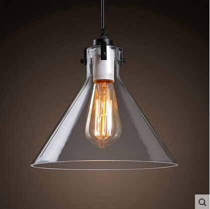 New Arrival Retro Loft Vintage Edison Pendant Light With Glass Lampshade Industrial Fixtures For Cafe Bar Home Lighting Lamparas iwhd loft style creative retro wheels droplight edison industrial vintage pendant light fixtures iron led hanging lamp lighting