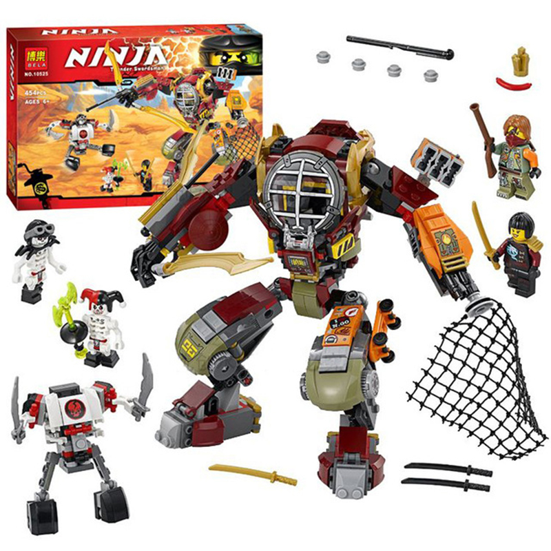 BELA 10525 Ninja Salvage M.E.C.Ronin Krazi Frakjaw Ninjagoed Building Blocks sets figure Bricks Toys Compatible With Legoed