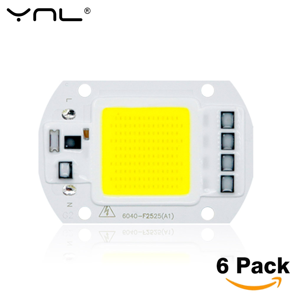 6pcs/lot COB LED Lamp Chip 50W 30W 20W 220V & 110V Cold Warm White Input Smart IC Driver Fit For DIY LED Floodlight Spotlight led cob lamp chip 5w 20w 30w 50w led chips 220v input smart ic driver fit for diy led floodlight spotlight cold white warm white