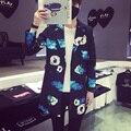Новый Стиль Весна Моды для Мужчин Пиджак Хан издание Длинные Свободные Цветочные Пиджаки однобортный Повседневная Мужская Blazer