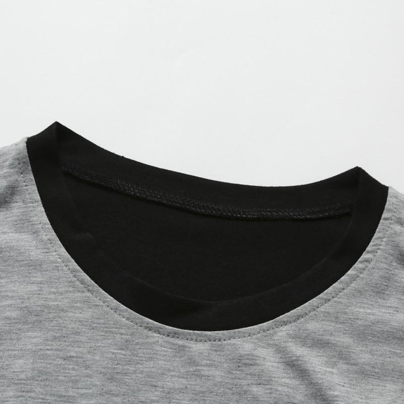 2018 Yeni erkek marka Moda Erkekler T Gömlek Slim Fit O-Boyun - Erkek Giyim - Fotoğraf 4