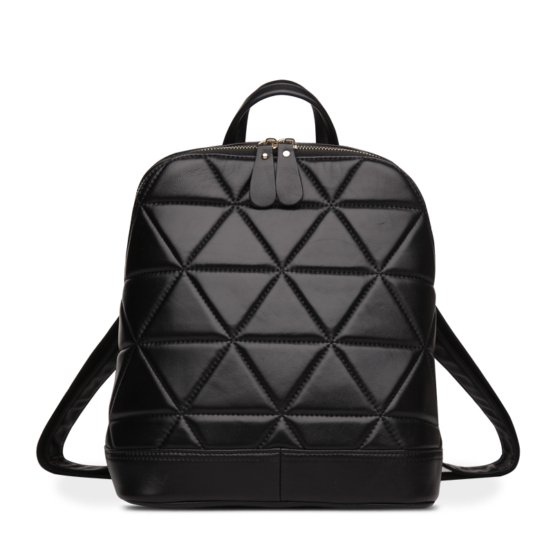 women leather backpack fashion school bags for teenagers shoulder bag designer luxury genuine leather bags genuine leather backpack women designer bags high quality new rivet casual black school bags for teenagers grils sac a dos
