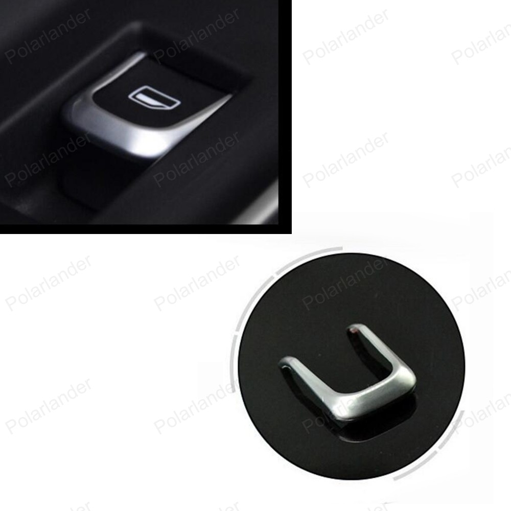 Interior accessories 7 PCS Car Styling Door Window Lift Switch trim Cover stickers For AUDI A1 A3 8V A4 B8 A6 C7 Q3 Q5 14 17